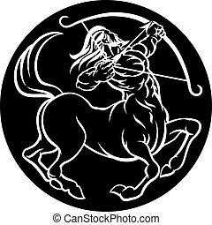 sagitario, señal, centauro, zodíaco, horóscopo