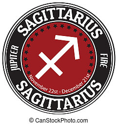 Sagitarius zodiac label - Sagitarius zodiac astrology label...