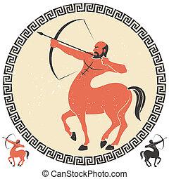 Sagittarius - Centaur shooting an arrow. Two additional...