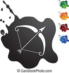 Sagittarius web button isolated on a background