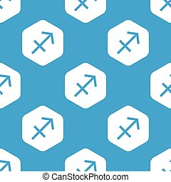 Sagittarius hexagon pattern