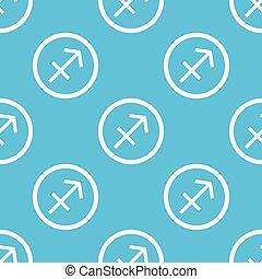 Sagittarius sign blue pattern