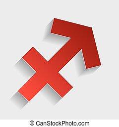 Sagittarius sign illustration