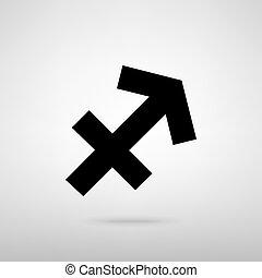 Sagittarius sign. Vector illustration