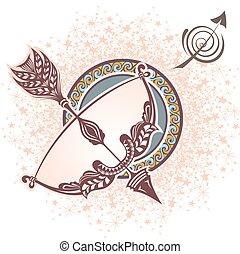 sagittarius., zodíaco, señal
