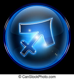 Sagittarius zodiac button icon