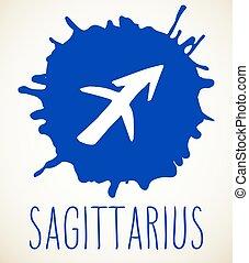 Sagittarius Zodiac sign design element