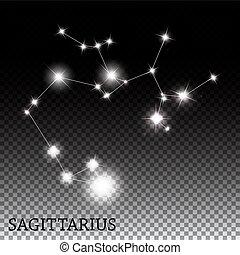Sagittarius Zodiac Sign of the Beautiful Bright Stars