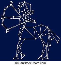 Sagittarius zodiac sign.
