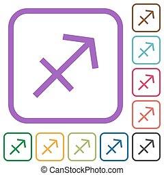 Sagittarius zodiac symbol simple icons