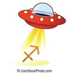 Sagittarius zodiac UFO button - Sagittarius zodiac astrology...
