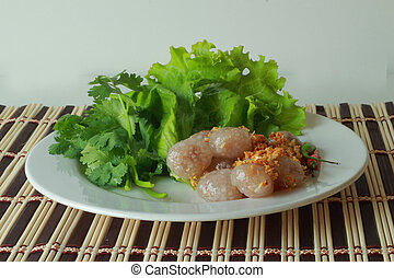 Sago pork snack in Thailand