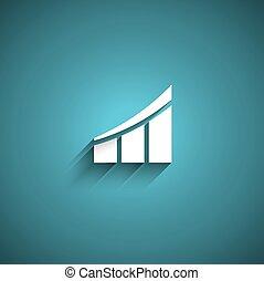 sagoma, affari, barre, curva, logotipo