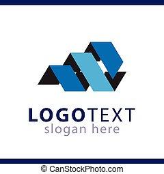 sagoma, astratto, iniziale, m, vettore, lettera, logotipo