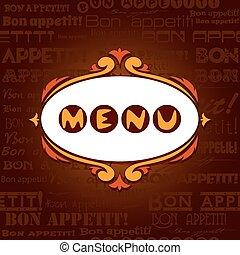 sagoma, caffè, bare., ristorante, menu