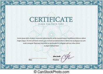 sagoma, certificato, e, diplomi