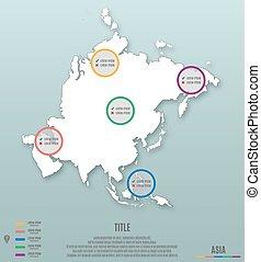 sagoma, continente, asia, infographics