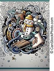 sagoma, disegno, disegnato, cartone animato, doodles,...