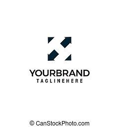 sagoma, h, frecce, disegno, lettera, logotipo