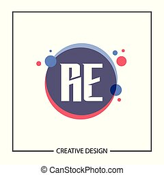 sagoma, iniziale, illustrazione, re, vettore, disegno, lettera, logotipo