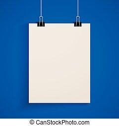 sagoma, manichino, carta, manifesto, sheet.
