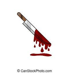 sagoma, manifesto, vettore, coltello, notizie, eps.10, ecc., sanguinante, design., pronto, icona, bandiera