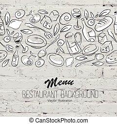 sagoma menu, ristorante