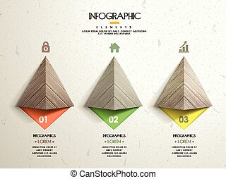 sagoma, moderno, infographic, disegno