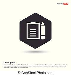 sagoma, redigere, hexa, fondo, bianco, documento, icona