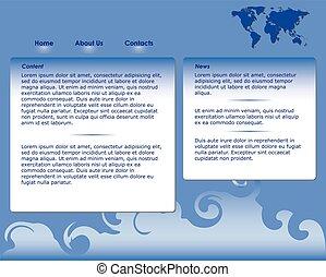 sagoma, sito web, blu