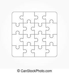 sagoma, sixtee, puzzle, jigsaw, vuoto