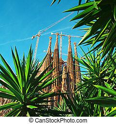 sagrada, -, barcelone, espagne, familia