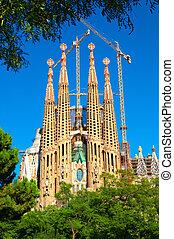 sagrada familia, église, dans, barcelone