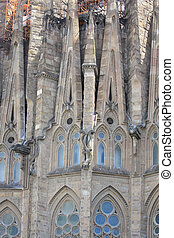 Sagrada Familia Barcelona, detail of facade