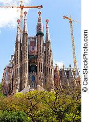 Sagrada Familia by architect Antoni Gaudi - View of Sagrada...