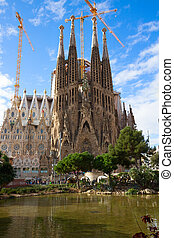 Sagrada Familia cathedral, Barcelona, Spain - famouse...
