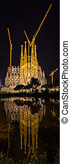 Sagrada Familia cathedral, under construction. Barcelona, Spain