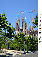 Sagrada Familia church, Barcelona, Spain - Sagrada Familia,...