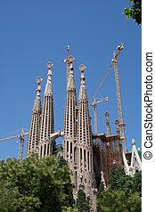 Sagrada Familia church by Antoni Gaudi, still under construction.