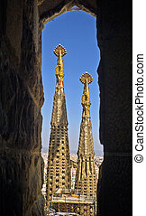 Sagrada Familia church in Barcelona - Detail of Sagrada...