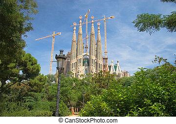 sagrada familia, dans, barcelone, espagne