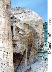 Sagrada Familia facade statue in Barcelona