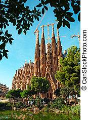 sagrada familia, igreja, em, barcelona
