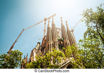 Sagrada Familia in Barcelona, Spain, Europe. - BARCELONA,...