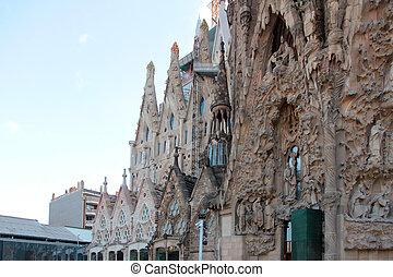 Sagrada Familia - View of the Sagrada Familia Barcelona...