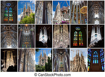 Sagrada Familia - Famous architecture masterpiece Sagrada...