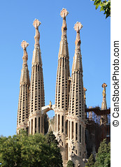 Sagrada Familia towers - Sagrada Familia cathedral,...