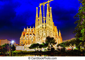 Sagrada Familia,beautiful and majestic outdoor view...
