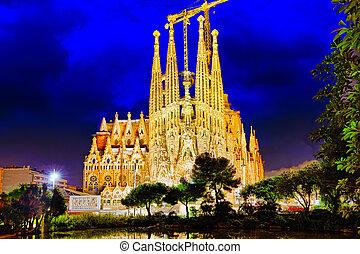 Sagrada Familia,beautiful and majestic outdoor view...