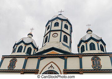 Sagrado Corazon Church in Filandia village, Colombia